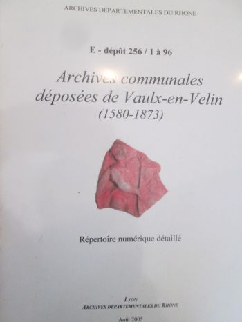 archives communales vaulx-en-velin, AVVV